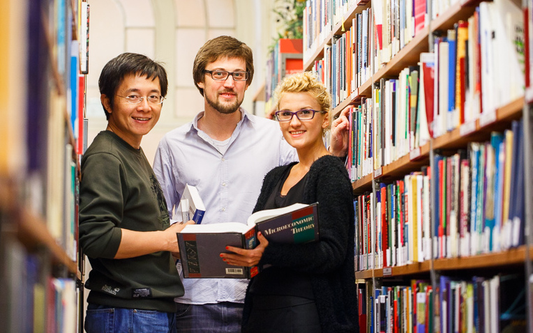 phd-in-economics-students-in-the-library